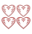 Valentine heart pictogram set vector image