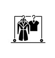 wardrobe black icon sign on isolated vector image vector image