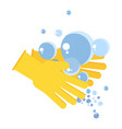 washing hand concept vector image