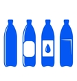 water bottle icons vector image vector image