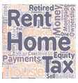 Why Own a Home Instead of Rent text background vector image vector image