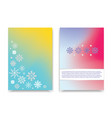 winter colorful mesh banners with white snowflakes vector image vector image