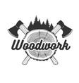 woodworking logo template vector image