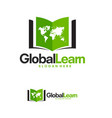 world education logo template global learn logo vector image vector image