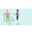 young caucasian white bancrupt business woman vector image vector image