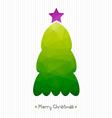Christmas card Polygonal triangular Christmas tree vector image