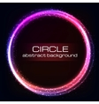 Shiny rainbow circles background vector image