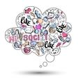 Doodle social media infographics vector image