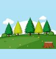 a simple nature scene vector image