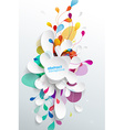 Abstract background with paper flower - vertical vector image