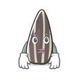 afraid sunflower seed mascot cartoon vector image vector image