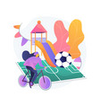 after school activities abstract concept vector image vector image