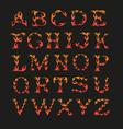 alphabet in shape fire vector image