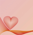 background with heart vector image vector image