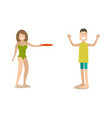 beach outdoor game in flat vector image vector image
