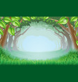 beautiful woodland scene vector image vector image