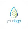 bio organic water drop logo vector image vector image