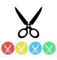 black scissors silhouette icon isolated vector image vector image