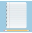 blank lined notebook vector image vector image