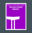 brazilian soldiers monuments brazil monument vector image vector image