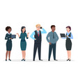 business people office team cartoon characters vector image