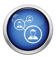 Businessmen structure icon vector image vector image