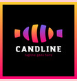 candy line logotype colorful and sweet symbol vector image