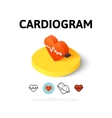 Cardiogram icon in different style vector image vector image