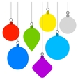 Christmas Background with Flat Balls vector image