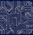 circuit board seamless pattern background vector image