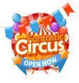 circus logo template vector image vector image