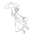 coloring book mary poppins a novel character vector image