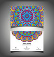 colourful business card vector image vector image