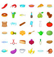 cookery icons set cartoon style vector image vector image