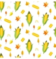 Corn seamless pattern Maize vector image