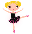 Cute ballerina blond girl isolated on white vector image vector image