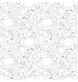 Cute hand drawn baby seamless pattern Background vector image