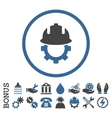Development Helmet Flat Rounded Icon With vector image vector image