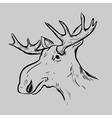 Elk Deer Mascot Head vector image vector image