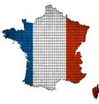 France map grunge mosaic vector image
