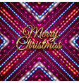 Golden Merry Christmas headline on purple vector image vector image