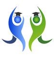 graduation logo vector image vector image