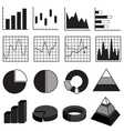 Graphs Charts Bars and Diagrams Data Element Set vector image vector image