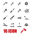 grey carpentry icon set vector image vector image