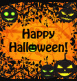 halloween festive floral poster vector image vector image