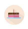 happy birthday cake icon vector image