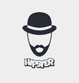 hipster retro geek vector image