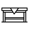 home table icon outline style vector image vector image