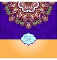 islamic vintage floral violet colour pattern vector image vector image