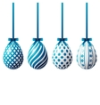 Isolated Easter eggs vector image